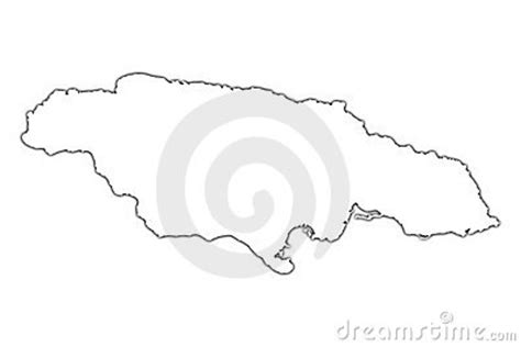 jamaica outline map stock photography image