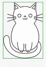 Coloring Easy Kitty Clipart Kitten Kittens Drawings Cats Sheet Transparent Name Netclipart sketch template