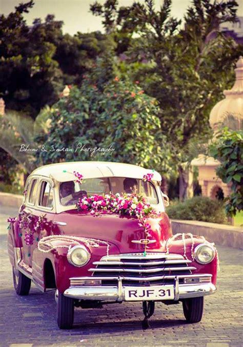 wedding car decoration  flowers getaway  style