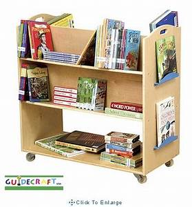 School Library Cart/Double Sided Book Shelves