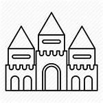 Park Amusement Outline Line Drawing Castle Icon