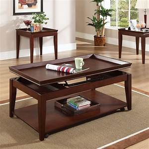 steve silver clemens rectangular cherry wood lift top 3 With cherry wood coffee table sets