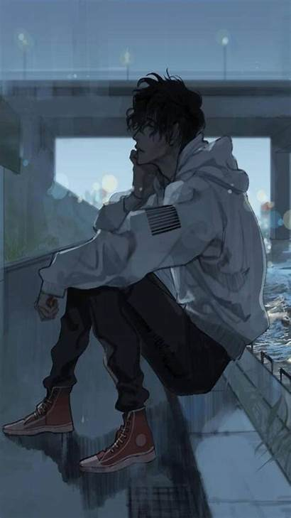 Sad Anime Wallpapers Boy Android Alone Profile