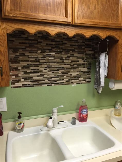 tile backsplash kitchen diy using vinyl smart tiles to update my kitchen hometalk 6122