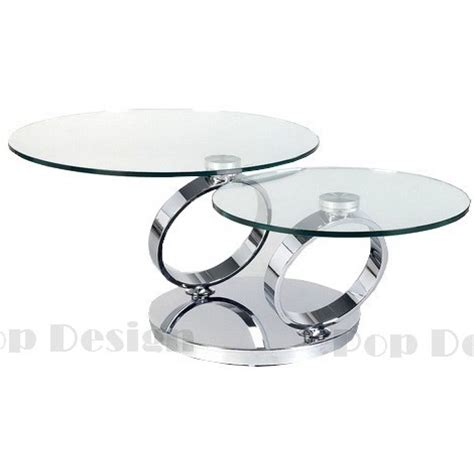 destockage canape angle table basse ronde pivotante basilos socle inox effet
