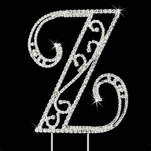 romanesque swarovski crystal wedding cake topper letter z With swarovski letters