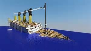 the sinking of the britannic minecraft h m h s britannic sinking minecraft project