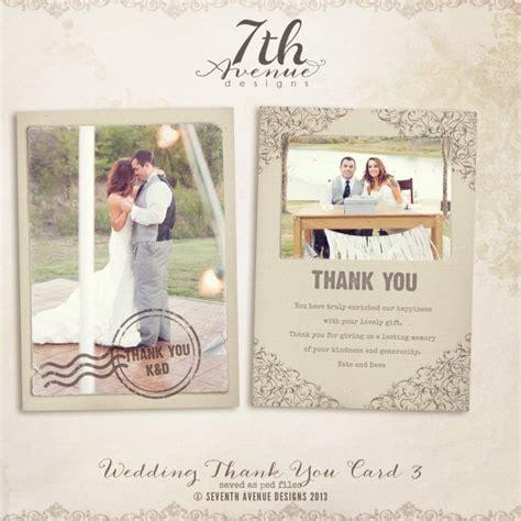 wedding thank you card photoshop template 1000 ideas about thank you card template on