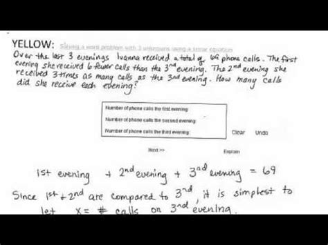 systems of equations with 3 variables word problems worksheet solving a word problem with three unknowns using a linear