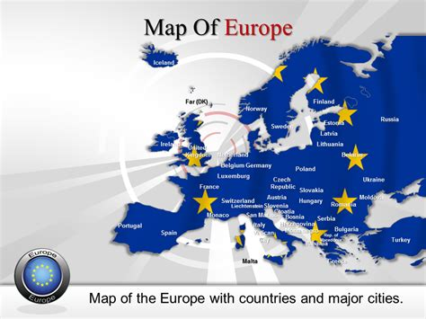 Carte Du Monde à Colorier Powerpoint by Europe Map For Powerpoint Ppt Maps Template For Europe