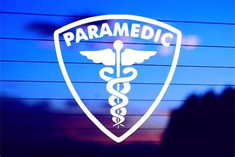 Paramedic Shield With Symbol Car Decal Sticker
