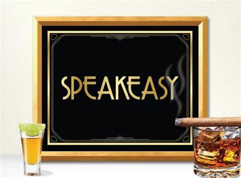 printable speakeasy sign art deco great gatsby