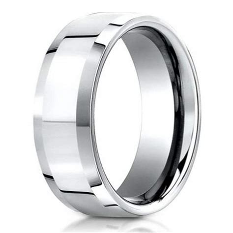 Benchmark Palladium Men's Wedding Band, Polished Bevel