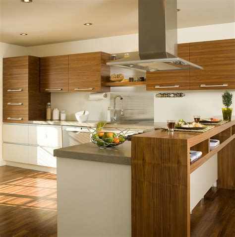 comptoire cuisine armoires de cuisine réalisées en noyer naturel modules du