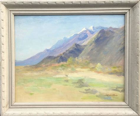 mary belle williams snow capped mountains painting