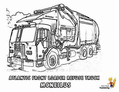 Coloring Garbage Truck Trucks Pages Construction Duty