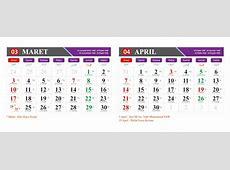 Vector for free Kalender 2019 Maret April