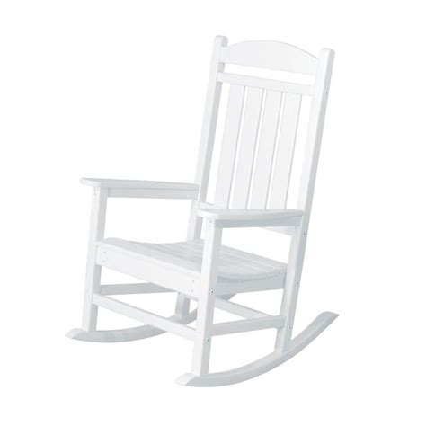 shop polywood presidential white plastic patio rocking