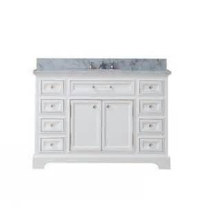 48 inch single sink bathroom vanity with carerra white marble uvwcderby48w