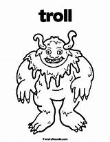 Billy Goats Gruff Coloring Three Pages Troll Ugly Goat Printable Template Colouring Getcolorings Worksheets Popular Pi Templates Sketch sketch template