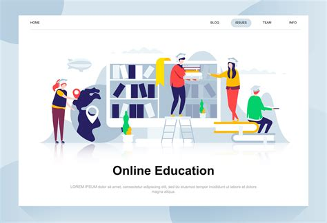 Design Education by Education Modern Flat Design Concept