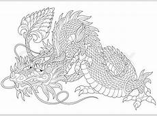 Stylized dragon symbol of chinese new year, isolated on