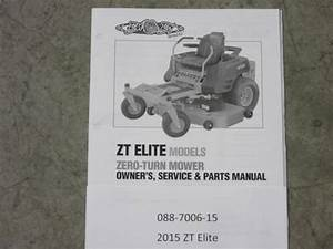 088-7006-15 - 2015 Zt Elite Owner U0026 39 S Manual