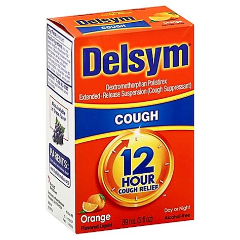 delsym  hour  oz cough suppressant liquid  orange