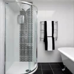 Bathroom Tile Ideas Black And White Black And White Bathroom With Patterned Tiles Bathroom Decorating Housetohome Co Uk