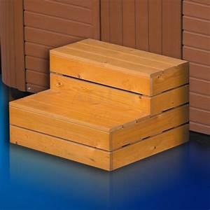 Pouf En Bois : escalier 2 marches pour spa en bois ~ Teatrodelosmanantiales.com Idées de Décoration