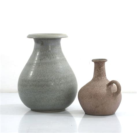 ceramic vases studio pottery  beautifully  vintage