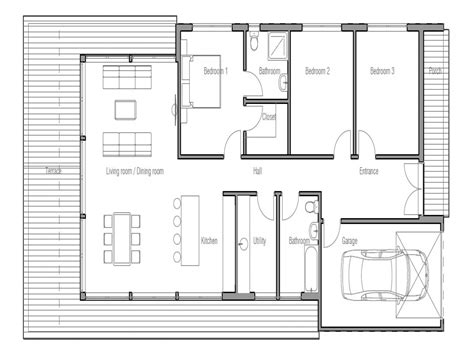 small modern floor plans small modern house plans with garage modern house