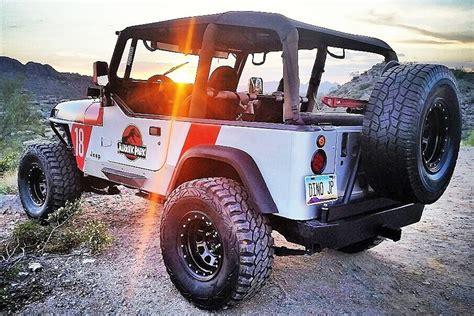 jurassic world jeep ebay find jurassic park themed jeep wrangler yj