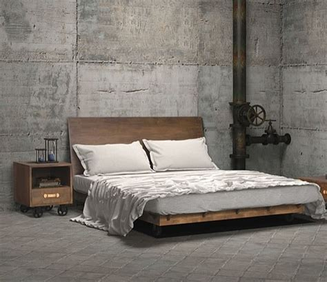 platform bed frame industrial bedroom ideas photos trendy inspirations Industrial