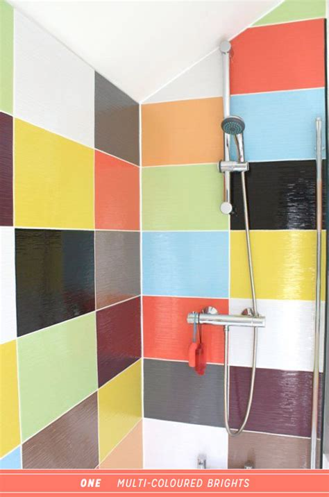 multi coloured kitchen tiles three ways to colourful steam shower therapy bright 3409