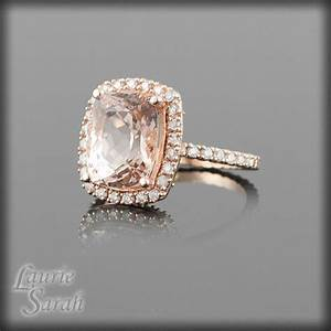 Morganite Engagement Ring in Rose Gold - Cushion Cut ...