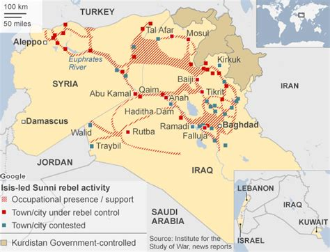 map showing isis  iraq  syria