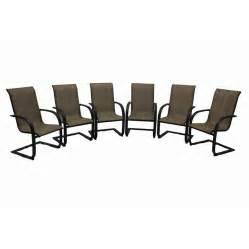 Lounge Chairs Lowes by Shop Garden Treasures Hayden Island 6 Count Brown Steel