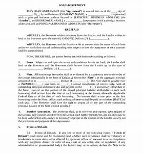 loan agreement template 11 free word pdf documents With business loan document template