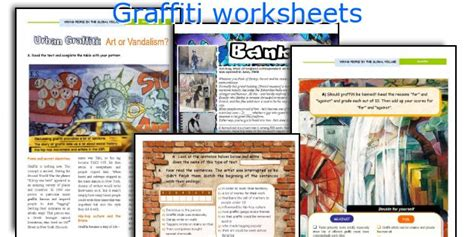 graffiti worksheets