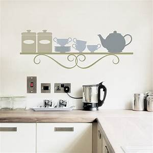 Kitchen wall decal dining room decals by justforyoudecals for Kitchen cabinets lowes with wall art stencils quotes