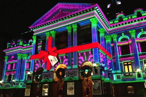 melbourne town hall christmas lights architectureau
