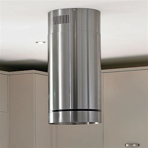 Lamona Cylinder Island Chimney Extractor   Stainless Steel