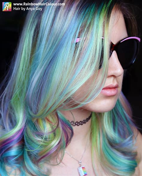 Opal Hair The Latest Pastel Rainbow Hair Trend Rainbow