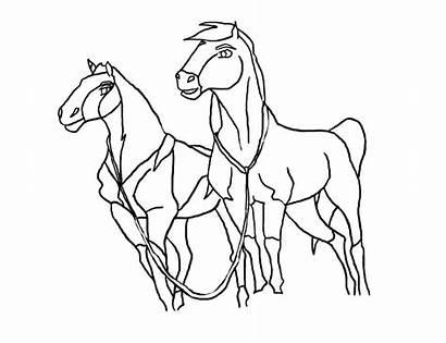 Spirit Coloring Pages Stallion Cimarron Rain Horse