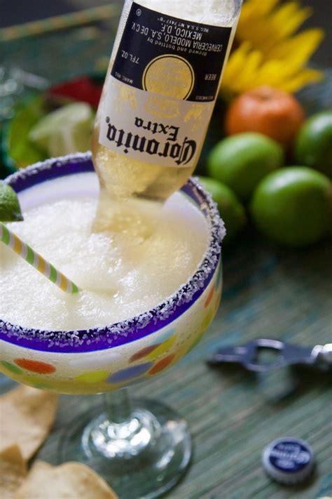coronarita frozen margarita beer cocktail