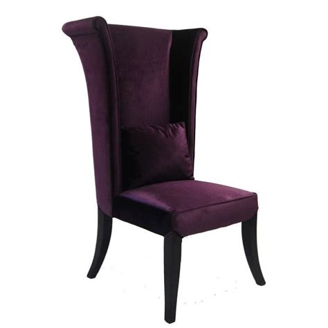 mad hatter dining parsons chair in purple lc847sipu