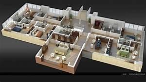 Grundriss Villa Modern : moderne villa grundriss 3d ~ Lizthompson.info Haus und Dekorationen