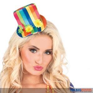 karneval hut befestigen mini clown hut quot regenbogen quot 55504