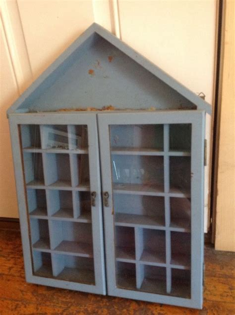 vintage shadow box miniature display case hanging wall